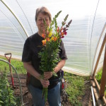 Denise and her Snapdragons